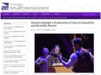 Triangle A&E Review: Theatre Raleigh's Production of Once Is Beautiful and Brutally Honest